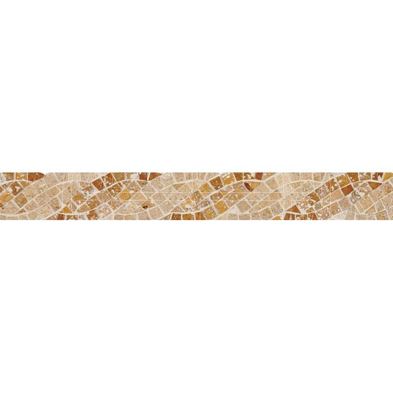 Saffron Honed&polished 5x40,6 Mermer Bordur
