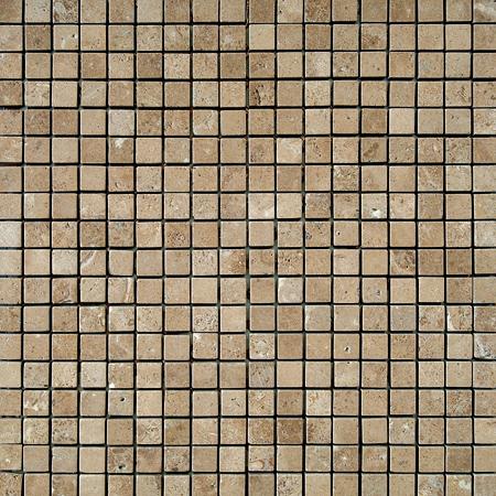 Walnut Dark Tumbled 30,5x30,5 1,5x1,5 Traverten Mozaik