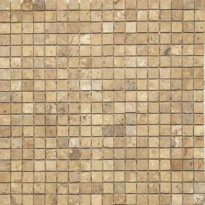 Golden Sienna Tumbled 30,5x30,5 5/8x5/8 Traverten Mozaik
