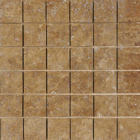 Walnut Dark Honed&filled 30,5x30,5 5x5 Traverten Mozaik