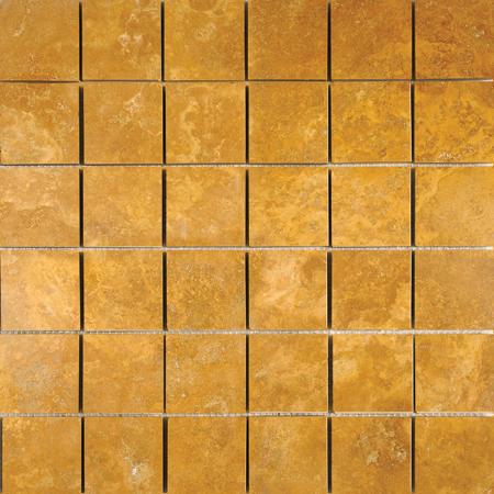 Golden Sienna Honed&filled 30,5x30,5 2x2 Traverten Mozaik