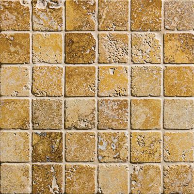 Golden Sienna Tumbled 30,5x30,5 2x2 Traverten Mozaik