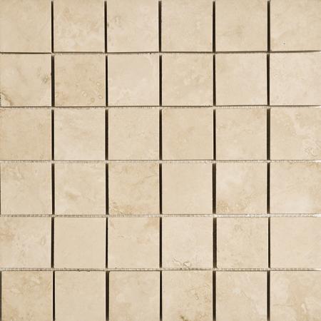 Ivory Honed&filled 30,5x30,5 5x5 Traverten Mozaik