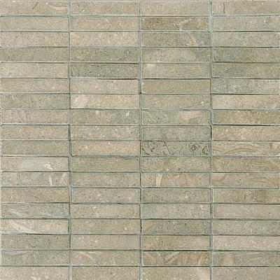 Olive Green Honed 15x75 Limestone Mozaik