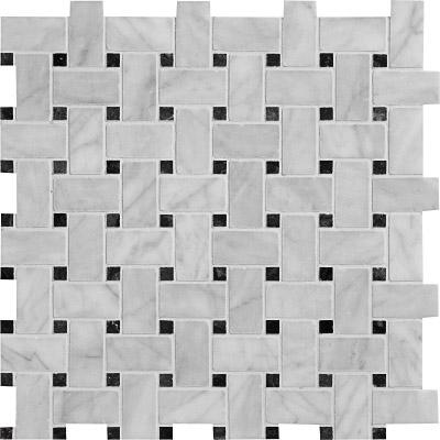 Avenza Honed 30,5x30,5 Basket Weave Mermer Mozaik
