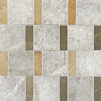 Black White Grey Polished 30,5x30,5 Mermer Mozaik