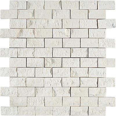 Champagne Rock Face 32x32 2,5x5 Limestone Mozaik