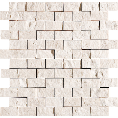 Desert Cream Rock Face 32x32 2,5x5 Mermer Mozaik