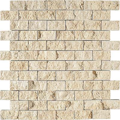 Seashell Rock Face 32x32 2,5x5 Limestone Mozaik