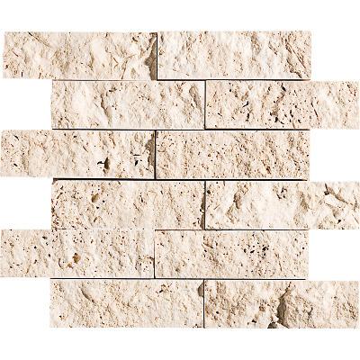 Ivory Rock Face 30,5x30,5 5x15,2 Traverten Mozaik