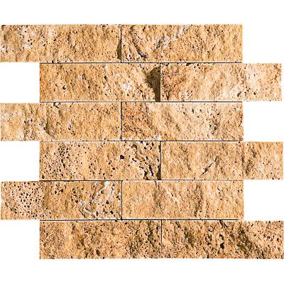 Golden Sienna Rock Face 30,5x30,5 5x15,2 Traverten Mozaik
