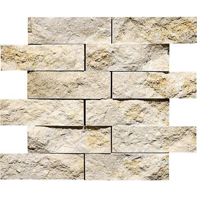 Seashell Rock Face 30,5x30,5 2x6 Limestone Mozaik