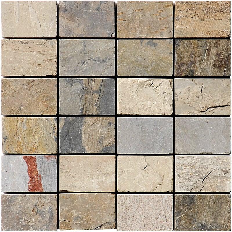 Dry Leaf Natural Cleft 30,5x30,5 50x75 Slate Mozaik