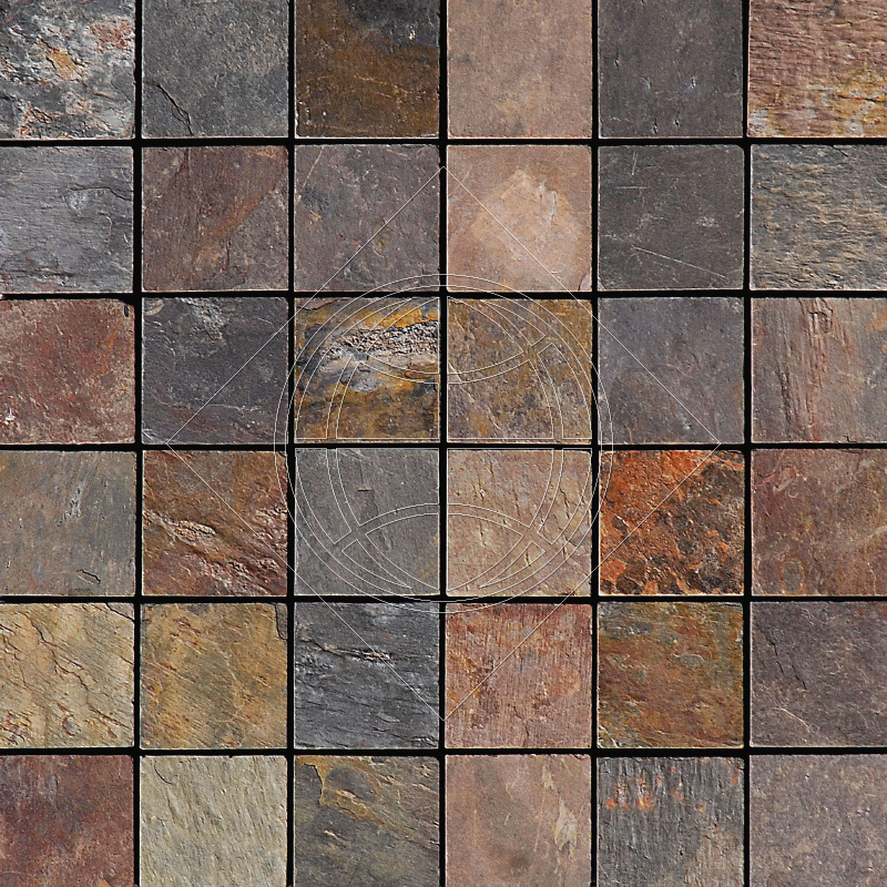 Rainbow Natural Cleft 30,5x30,5 50x50 Slate Mozaik
