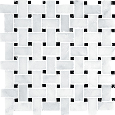 Glacier Honed 30,5x30,5 Basket Weave Mermer Mozaik