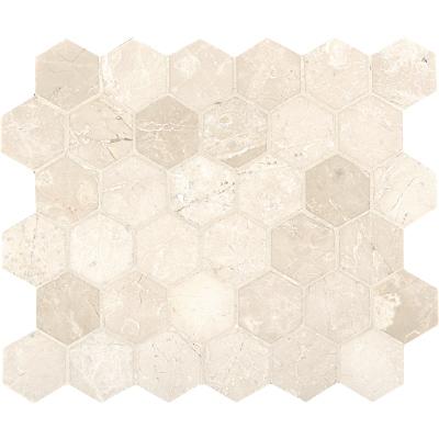 Delano Honed 26,5x31 Hexagon Mermer Mozaik