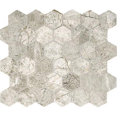 Silver Clouds Polished 26,5x31 Hexagon Mermer Mozaik