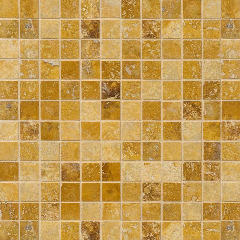 Golden Sienna Honed&filled 30,5x30,5 2,3x2,3 Traverten Mozaik