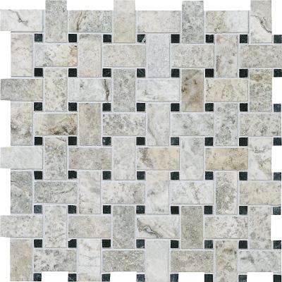 Silverado Honed&filled 31x31 Basket Weave Traverten Mozaik