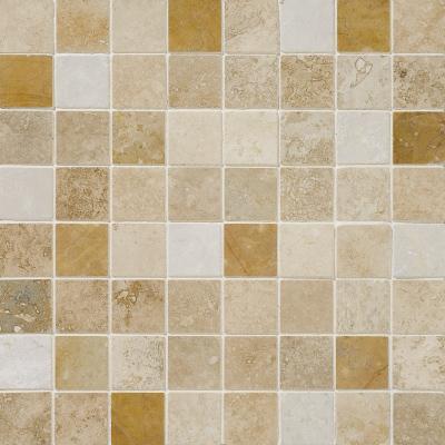 Aspen Dawn Honed&filled 30,5x30,5 2,3x2,3 Traverten Mozaik
