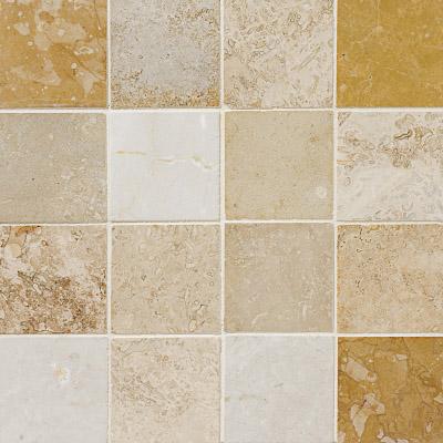 Aspen Dawn Honed&filled 30,5x30,5 3x3 Traverten Mozaik