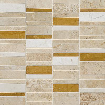 Aspen Dawn Honed&filled 30,5x30,5 Broken Trail Traverten Mozaik