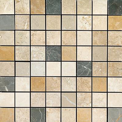 Aspen Dusk Honed&filled 30,5x30,5 2,3x2,3 Traverten Mozaik