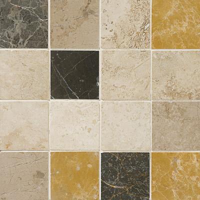 Aspen Dusk Honed&filled 30,5x30,5 3x3 Traverten Mozaik