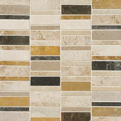 Aspen Dusk Honed&filled 30,5x30,5 Broken Trail Traverten Mozaik
