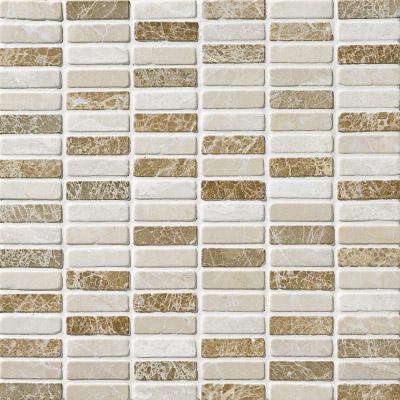 Milano Blend Tumbled 30,5x30,5 5/8x2 Mermer Mozaik