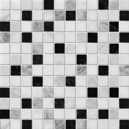 Black White Grey Polished 30,5x30,5 1x1 Mermer Mozaik