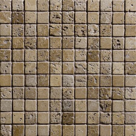 Walnut Dark Tumbled 30,5x30,5 2,3x2,3 Traverten Mozaik