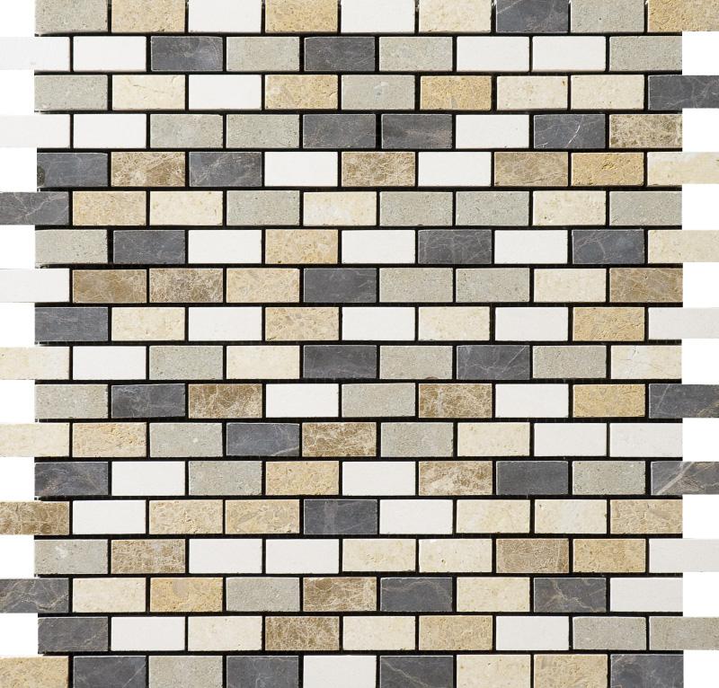 Chara Honed 30,5x30,5 1,5x3 Limestone Mozaik