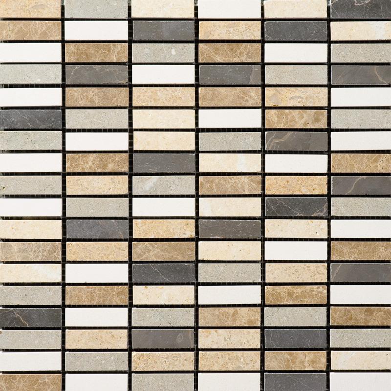 Chara Honed 30,5x30,5 5/8x2 Limestone Mozaik