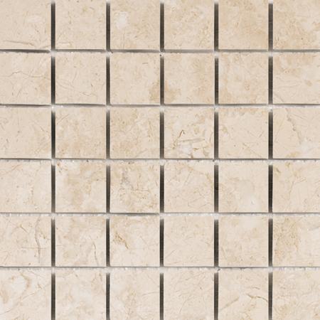 Crema Bella Honed 30,5x30,5 5x5 Mermer Mozaik
