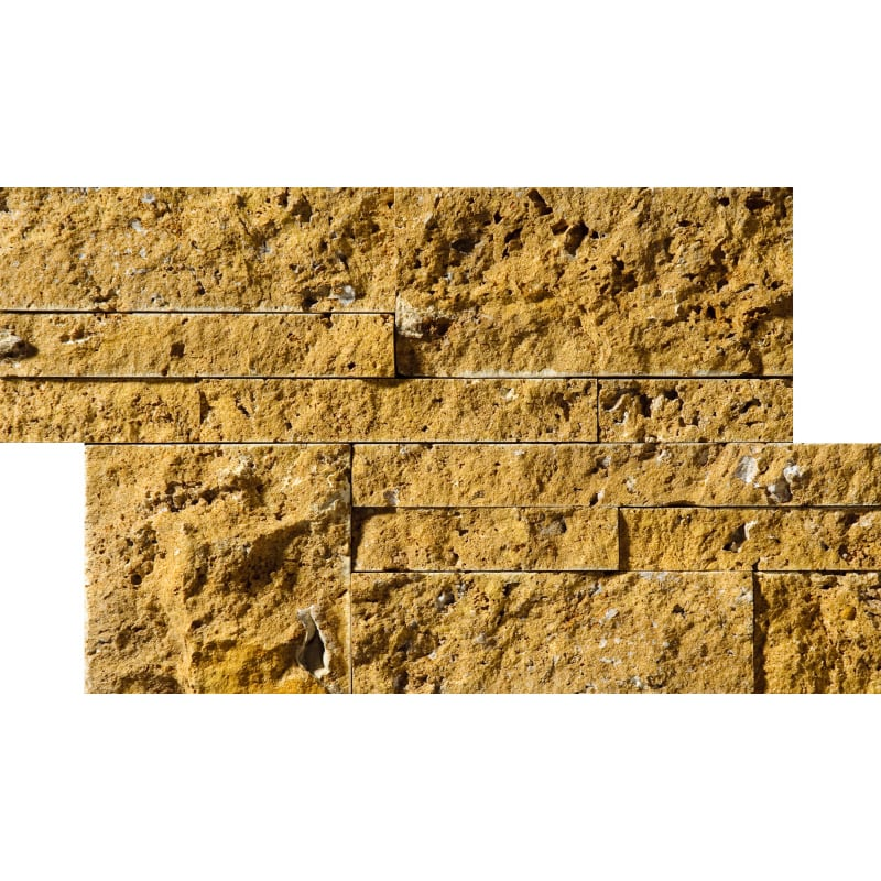 Golden Sienna Rock Face 20,5x30,5 Taco Traverten Mozaik