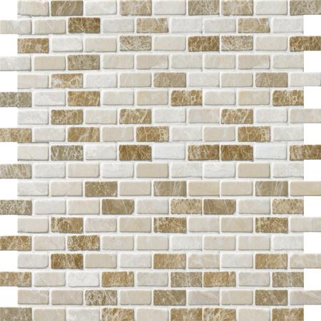 Milano Blend Tumbled 30,5x30,5 5/8x1 1/4 Mermer Mozaik