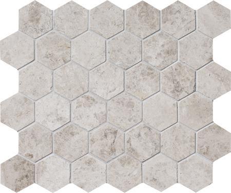 Silver Shadow Polished 26,5x31 Hexagon Mermer Mozaik