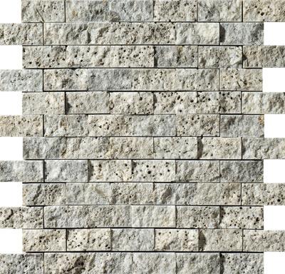 Silverado Rock Face 30x31 2,5x5 Traverten Mozaik