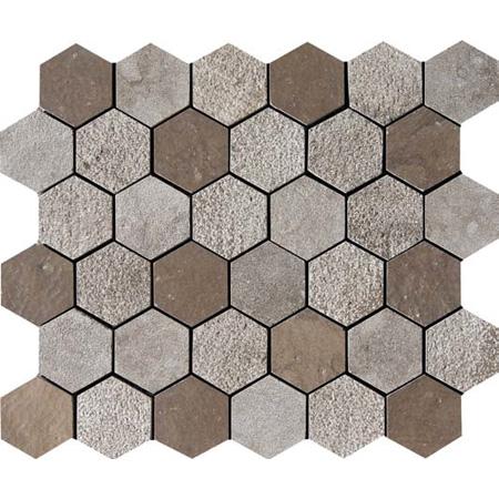 Ceaser-kesra Textured 26,5x31 Hexagon Limestone Mozaik