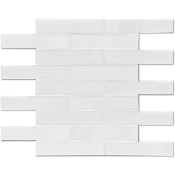 Aspen White Honed 30,5x30,5 3x15,2 Mermer Mozaik