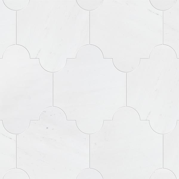 Aspen White Honed 20x24,77 San Felipe Mermer Fayans
