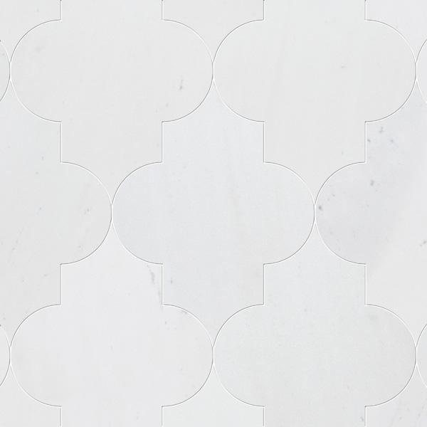 Aspen White Honed 20x28 Arabesque Mermer Fayans