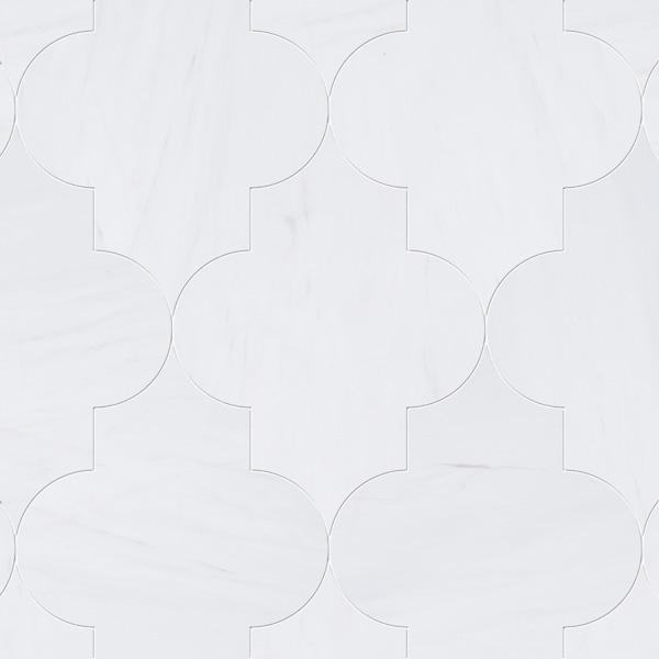 Snow White Polished 20x28 Arabesque Mermer Fayans