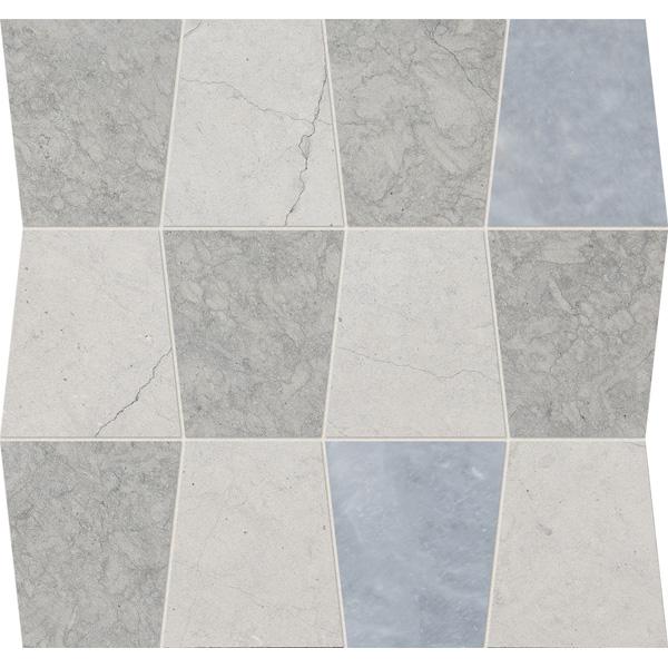 Thala Gray, Thala Gray Dark, Afyon Gray Honed 31,5x30,5 Tapered Mermer Mozaik