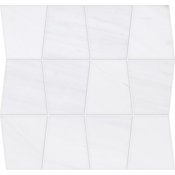 Snow White Honed&polished 31,5x30,5 Tapered Mermer Mozaik