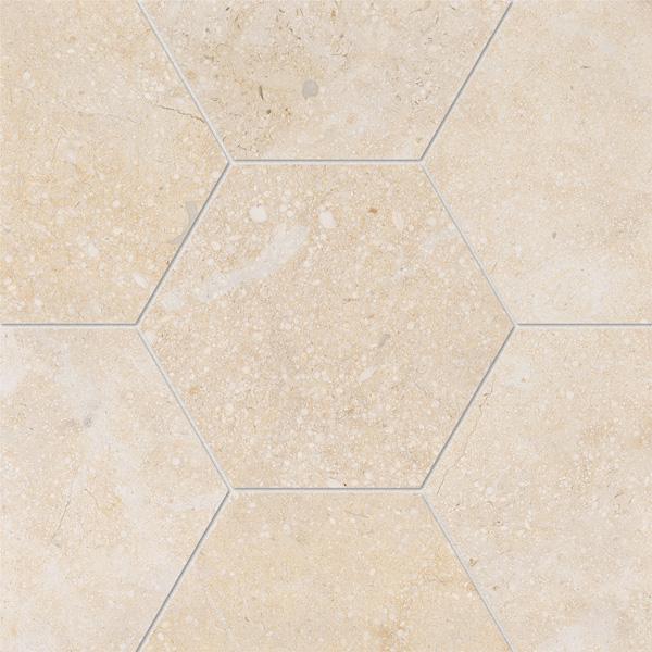 Casablanca Honed 14,5x12,5 Hexagon Mermer Fayans