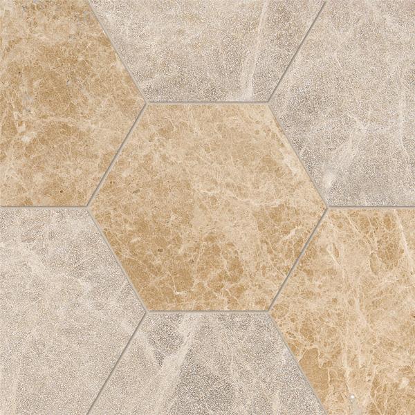 Paradise Multi Finish 14,5x12,5 Hexagon Mermer Fayans
