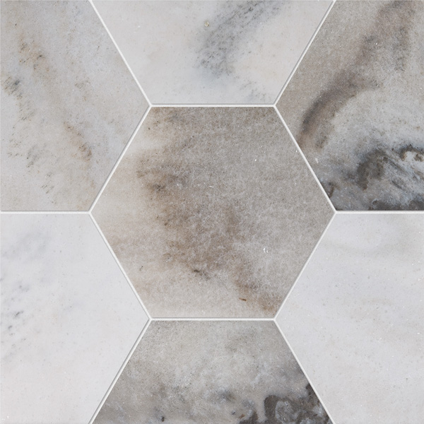 Skyline Honed 14,5x12,5 Hexagon Mermer Fayans
