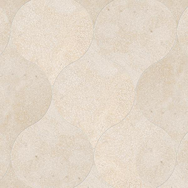 Thala Beige Leather 12,5x17,5 Winter Leaf Mermer Fayans